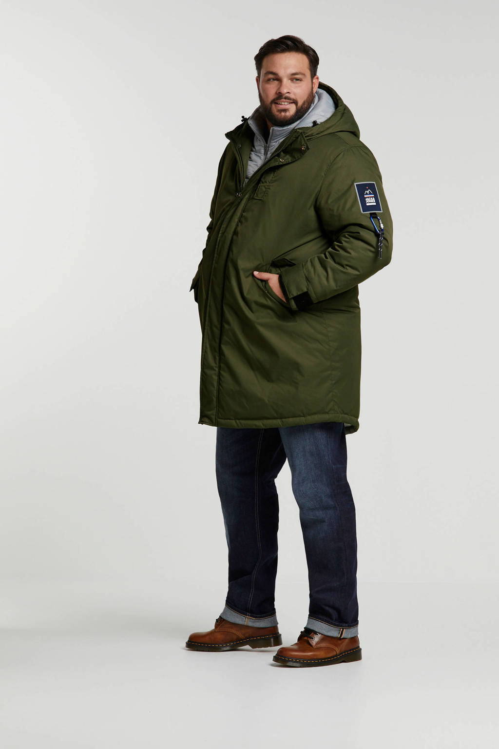 JACK & JONES PLUS SIZE parka groen, Groen