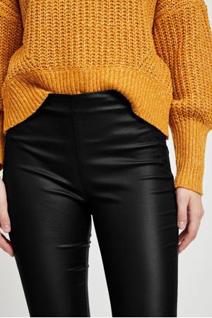 coated legging zwart