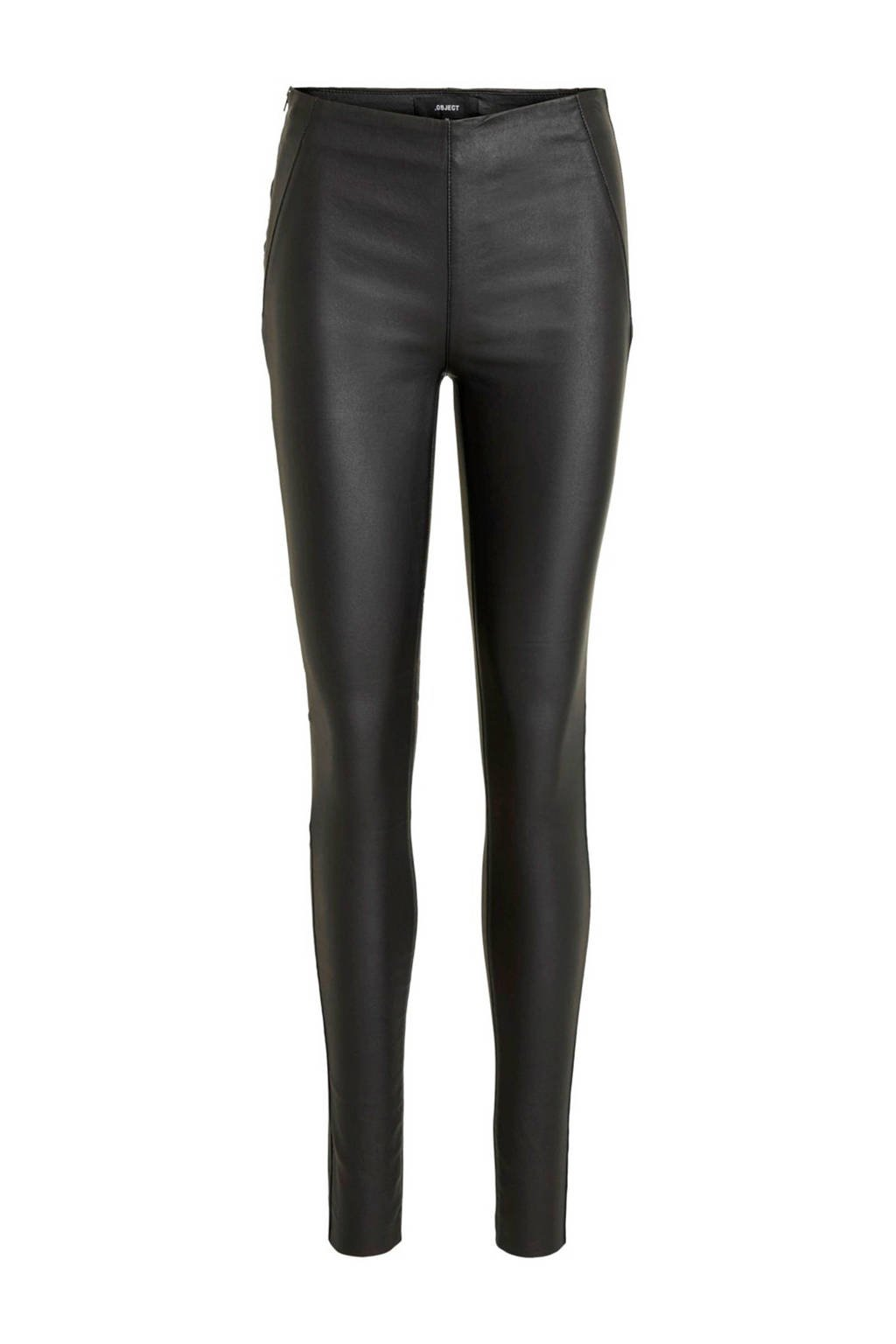 OBJECT coated legging zwart, Zwart