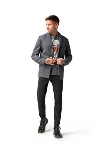 Tom Tailor slim fit chino met riem zwart, Zwart