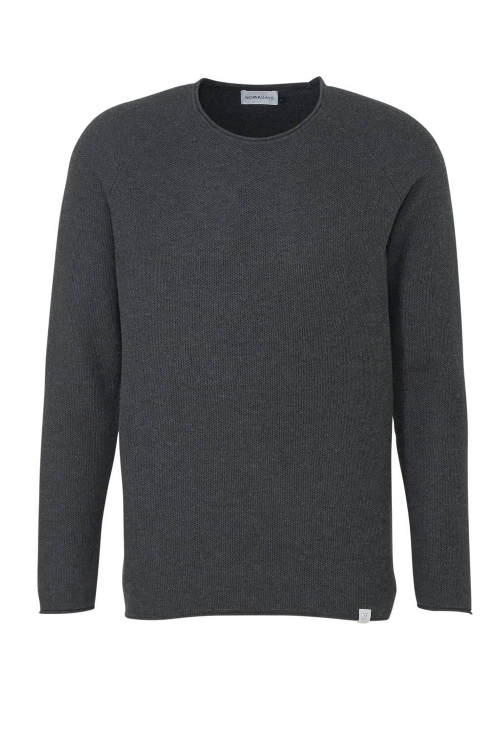 Nowadays gemêleerde trui zwart, Zwart