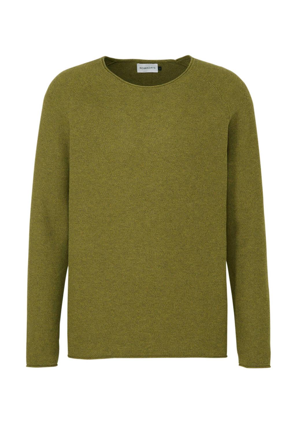 Nowadays trui olijfgroen, Olijfgroen