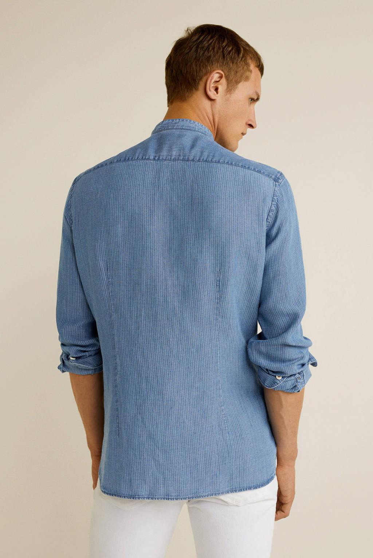 Mango Man regular fit overhemd blauw, Blauw