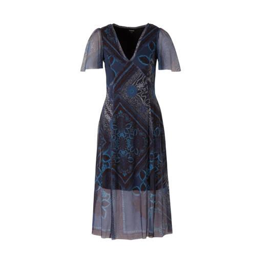 Desigual mesh jurk met all over print