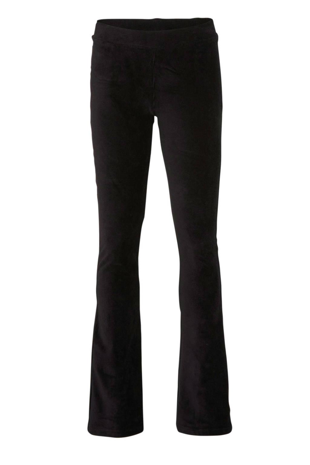 Geisha corduroy flared legging zwart, Zwart