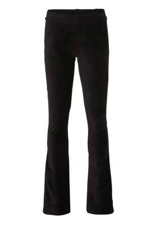 corduroy flared legging zwart