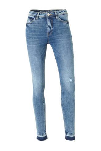 Clockhouse high waist super skinny jeans met slijtage