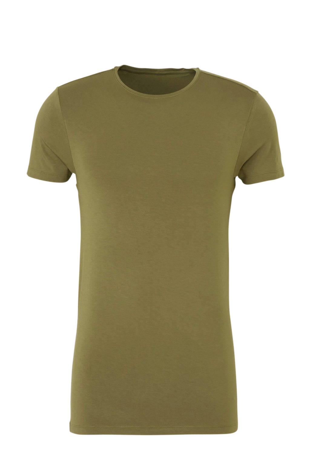 ten Cate Men Bamboo bamboe T-shirt groen, Olijfgroen