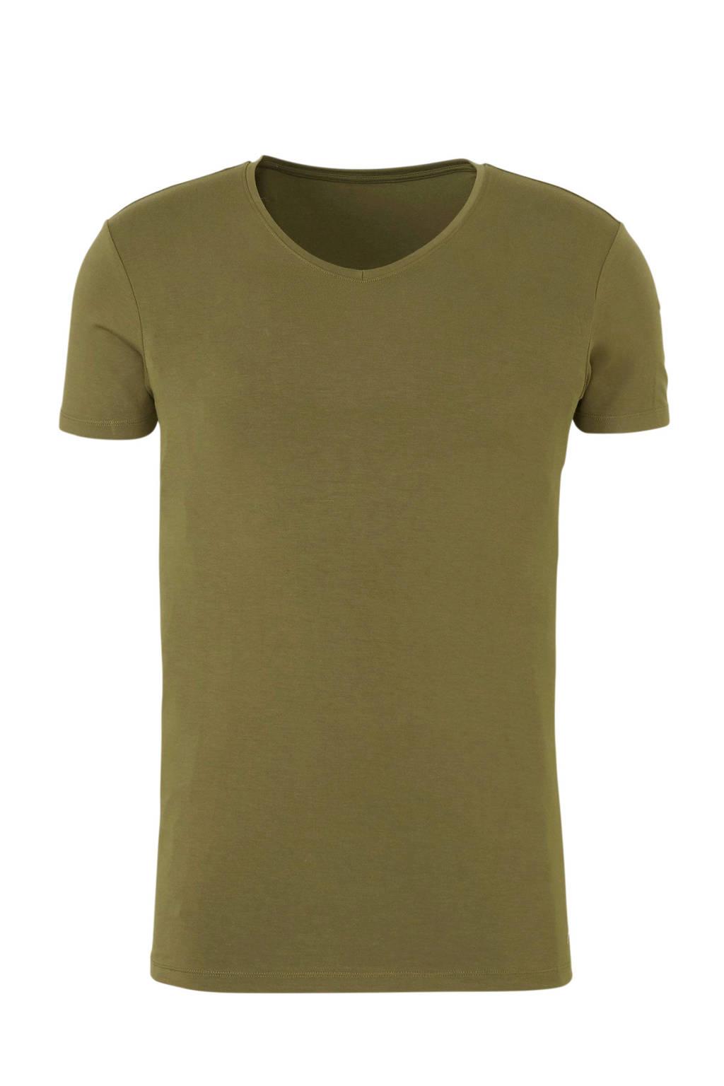 ten Cate Men Bamboo T-shirt groen, Olijfgroen