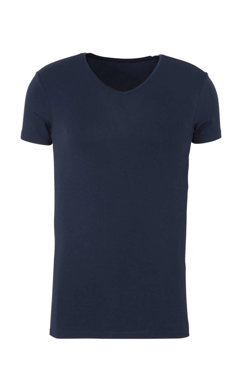 ten Cate Men Bamboo bamboe T-shirt donkerblauw, Donkerblauw