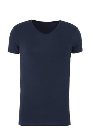 bamboe T-shirt donkerblauw