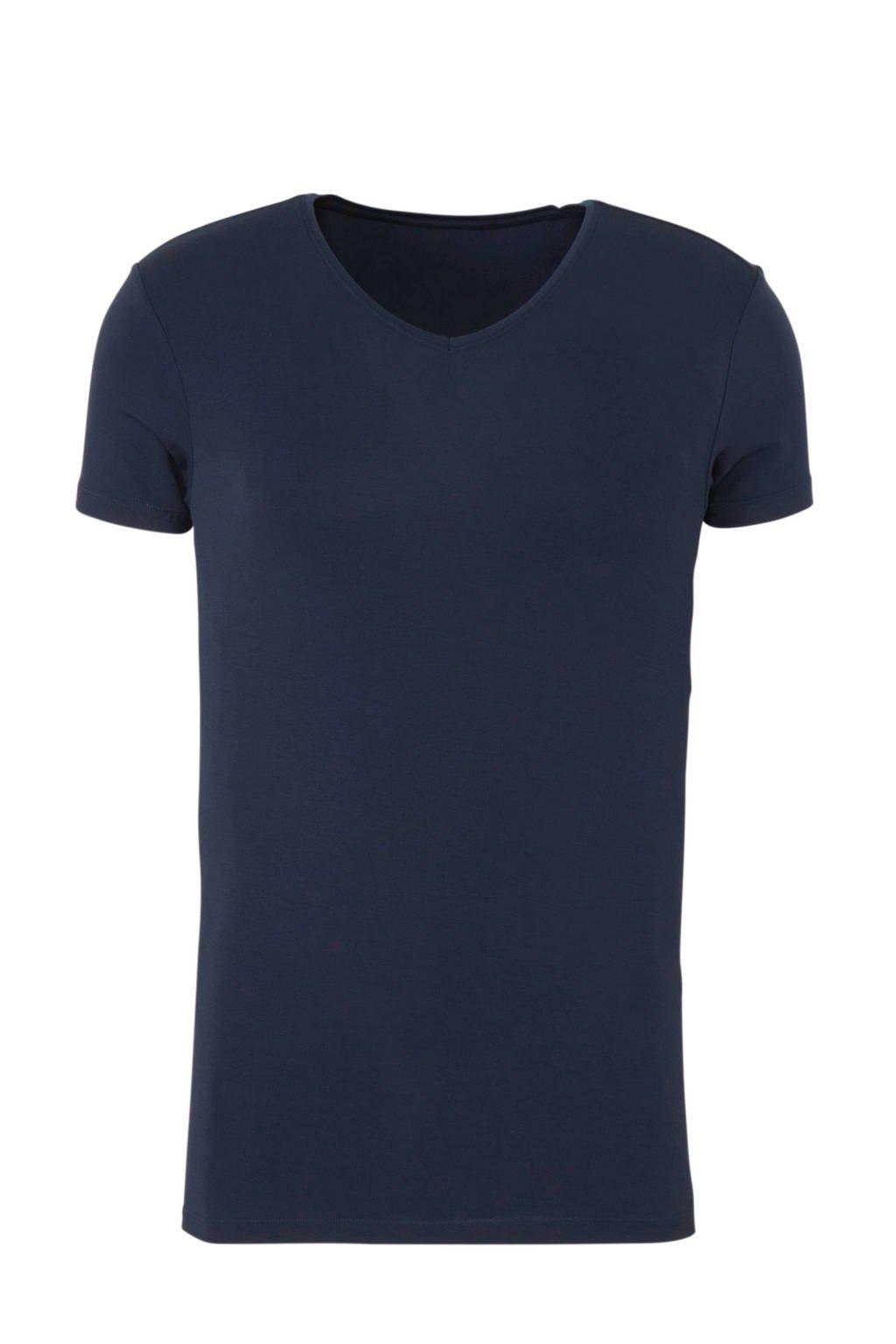 ten Cate Men Bamboo T-shirt donkerblauw, Donkerblauw