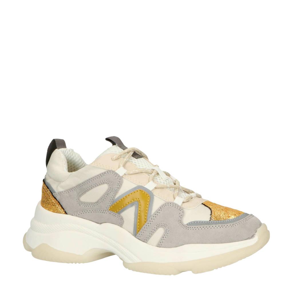 La Strada  1900600 chunky sneakers grijs/beige, Beige/Grijs/Goud