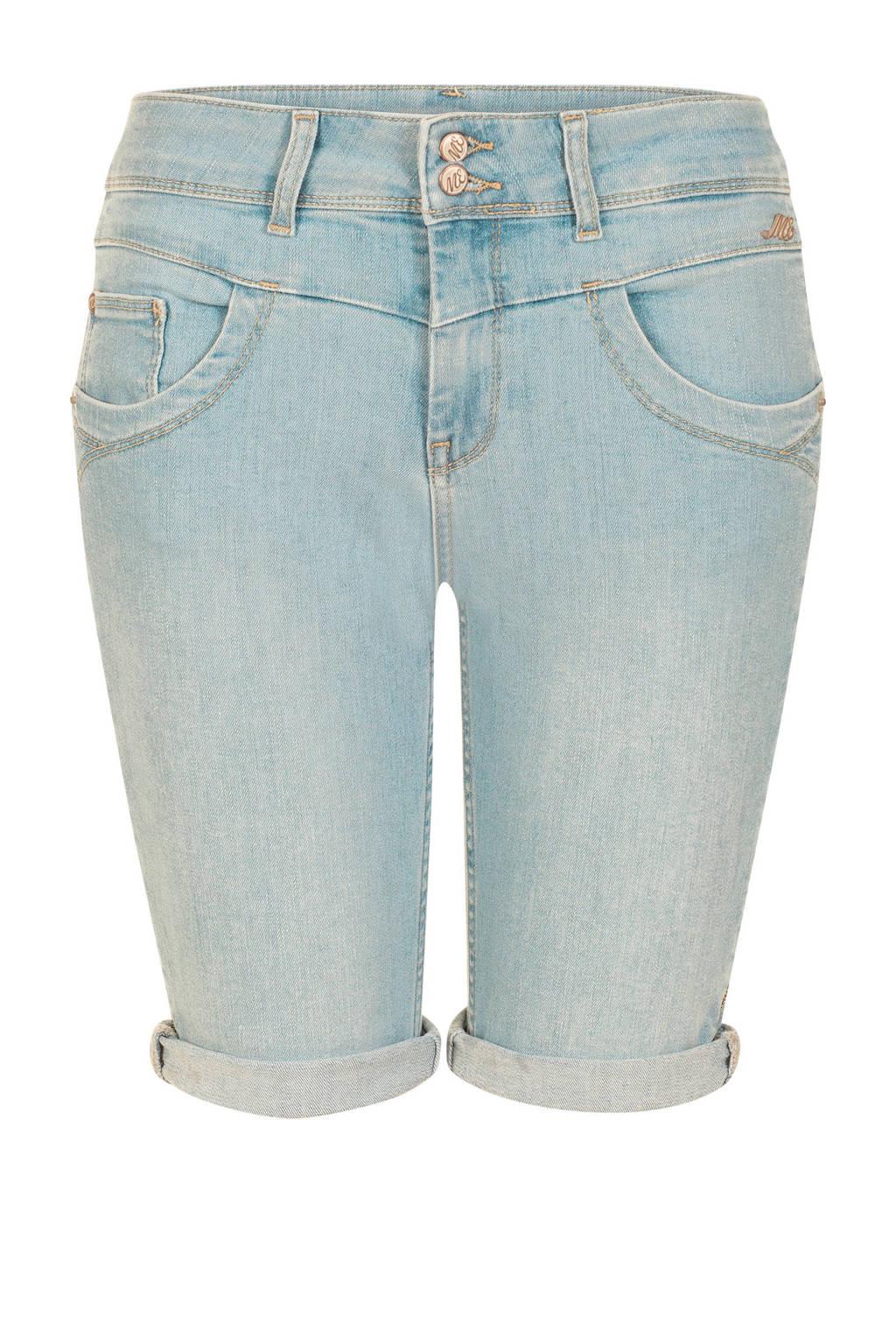 Miss Etam Regulier slim fit jeans short, Light denim