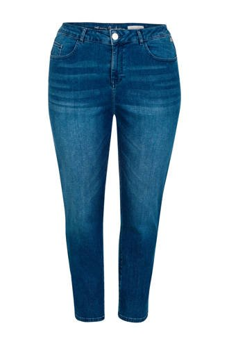 Plus cropped skinny jeans met zijstreep