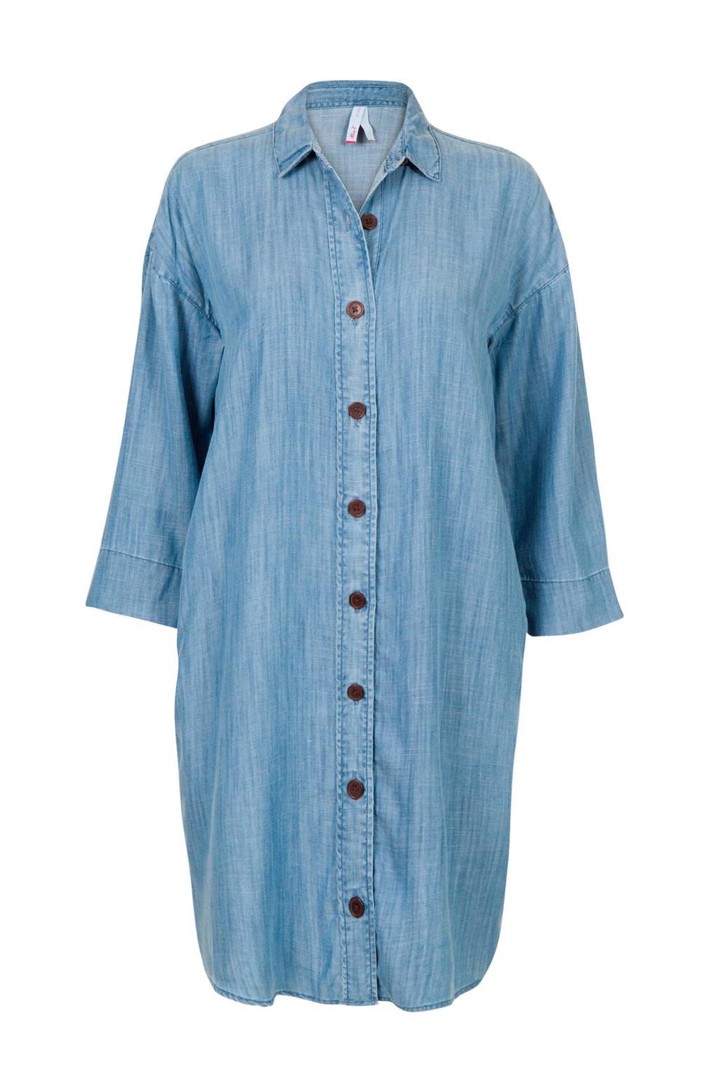 Miss Etam Regulier blouse light denim, Light denim