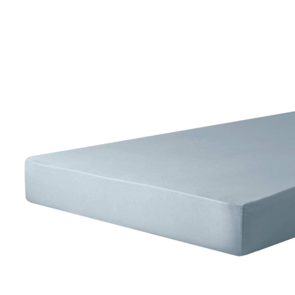 wehkamp home jersey baby hoeslaken ledikant (60x120 cm), Lichtblauw