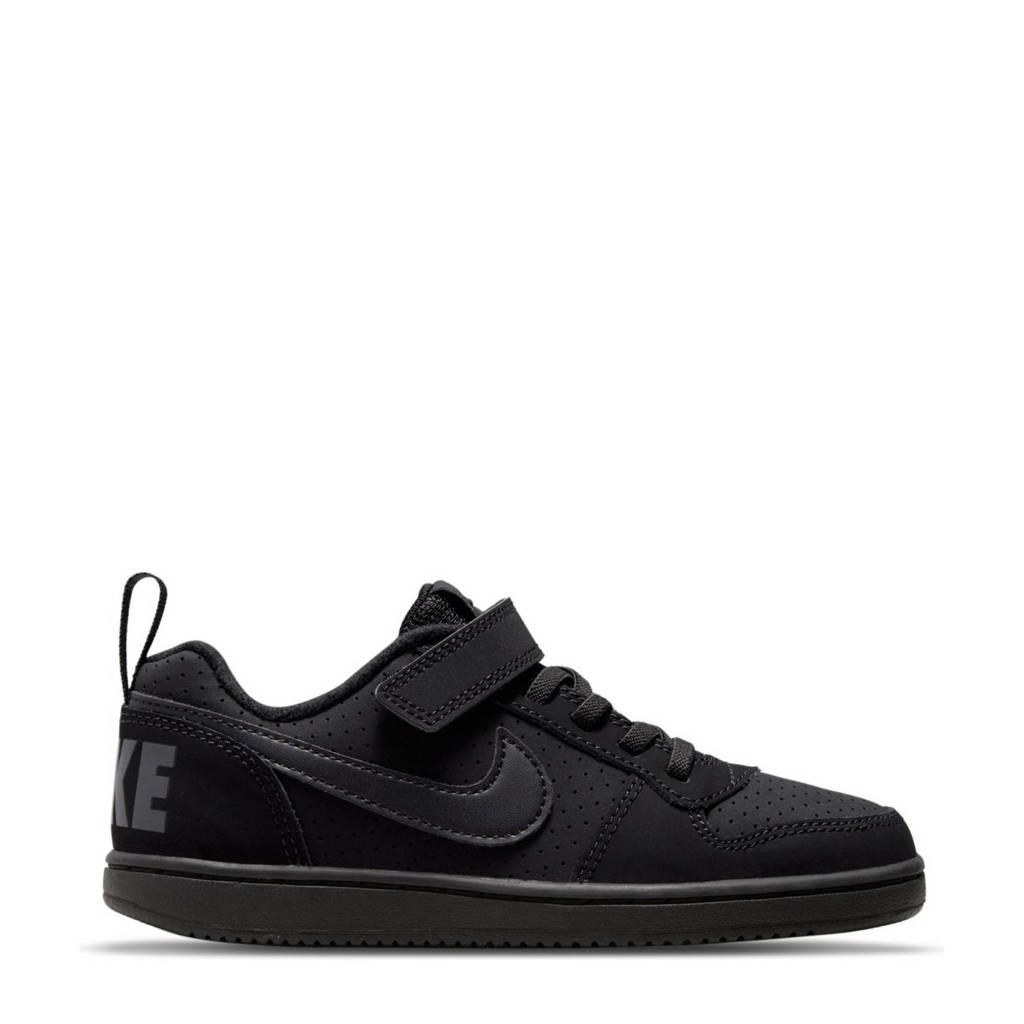 Nike Court Borough Low sneakers zwart, Zwart