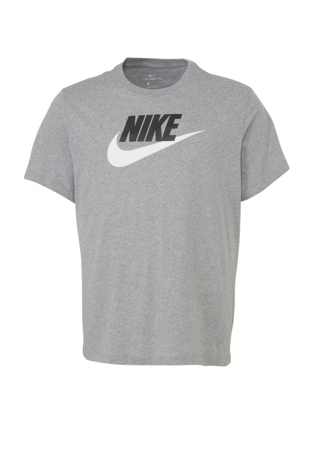 Nike T-shirt grijs melange, grijs melange/wit/zwart