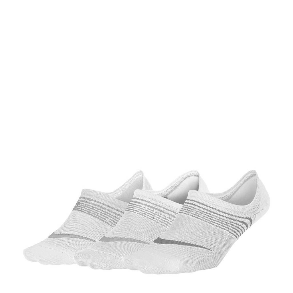 Nike sportsokken  - set van 3 wit, Wit/grijs
