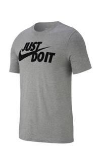 Nike   T-shirt grijs melange, Grijs melange/zwart