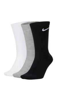 Nike   sportsokken - set van 3 zwart/grijs/wit, Zwart/grijs/wit