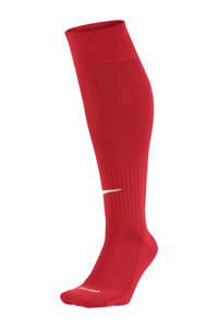 Nike   voetbalsokken rood, Rood/wit