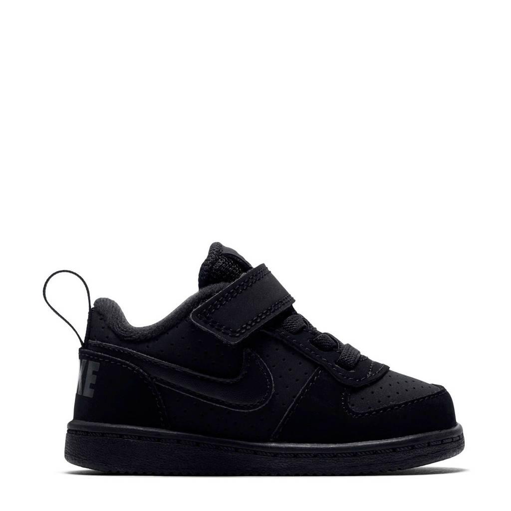 Nike  Court Borough Low sneakers zwart, Zwart