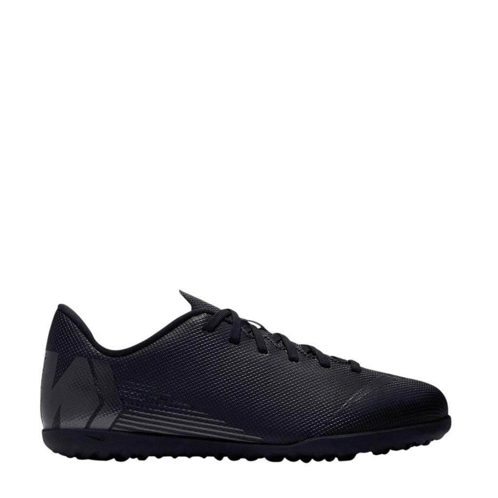 Nike   JR Vapor 12 Club GS TF voetbalschoenen zwart, Zwart