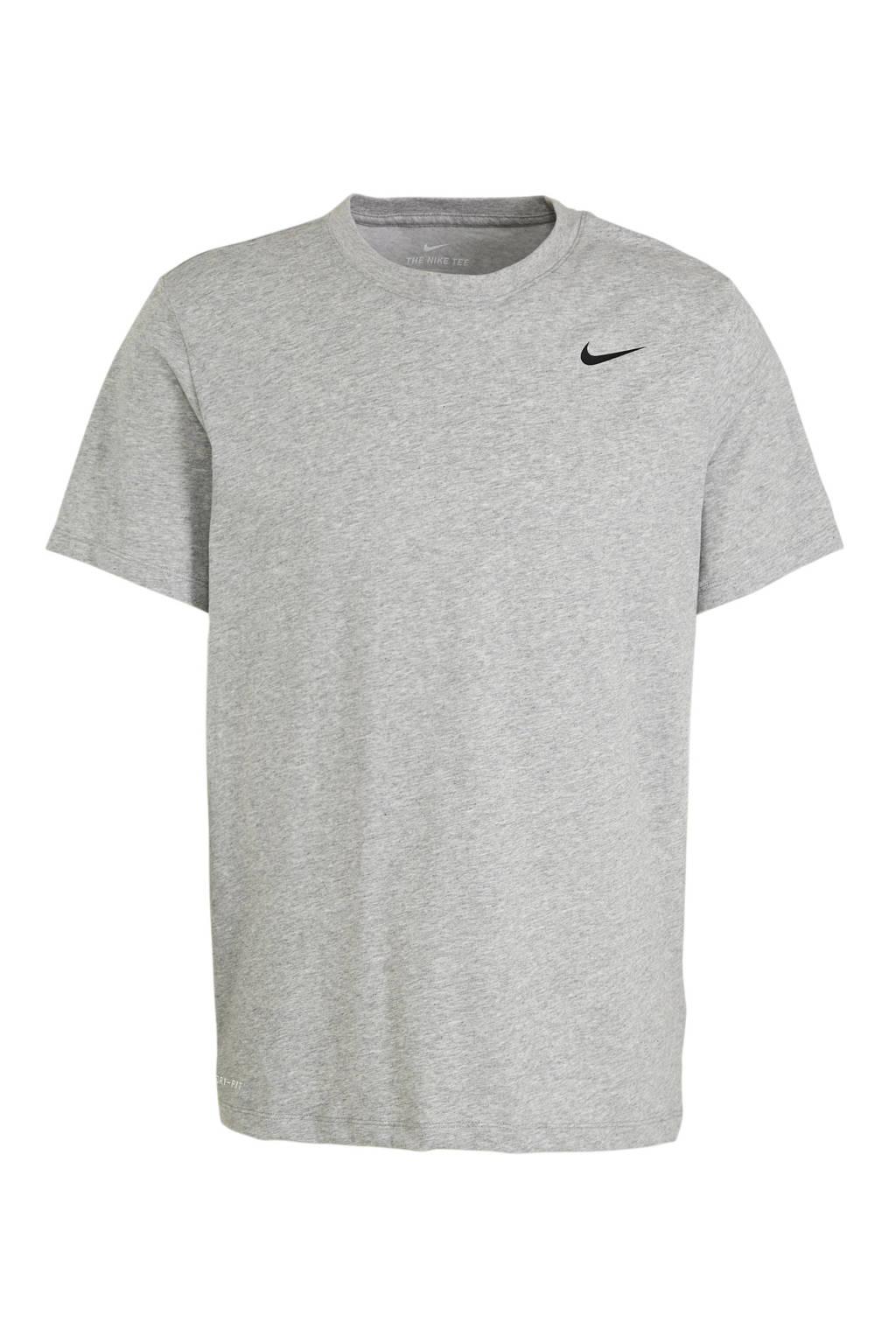Nike   sport T-shirt grijs melange, Grijs