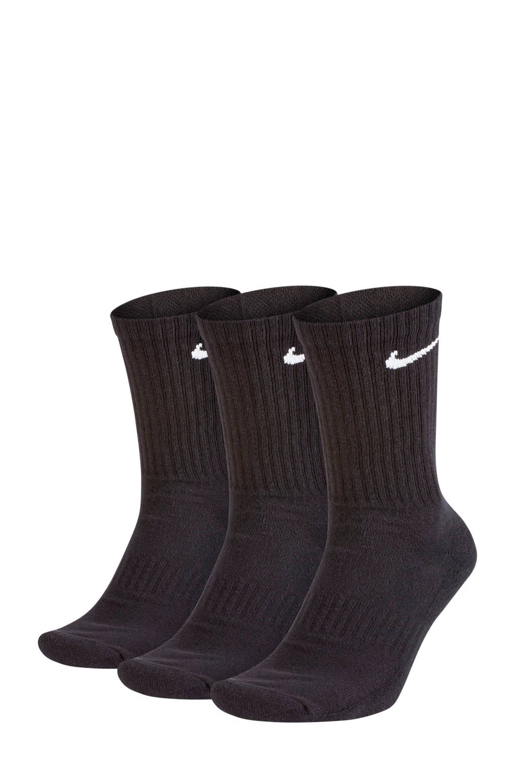 Nike   sportsokken (set van 3) zwart, Zwart
