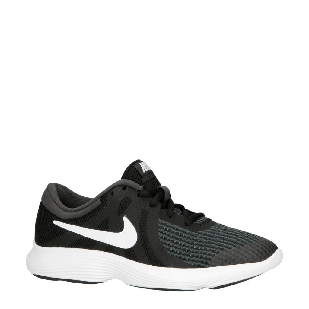 Nike  REVOLUTION 4 (GS) sneakers zwart/wit, Zwart/wit