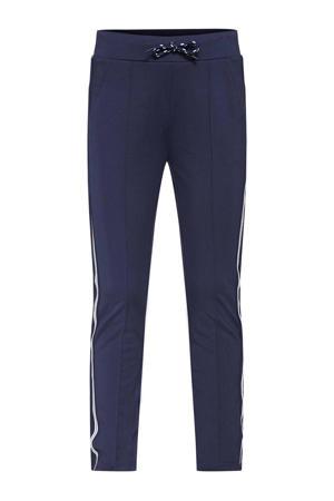 broek Jogster met zijstreep donkerblauw/wit