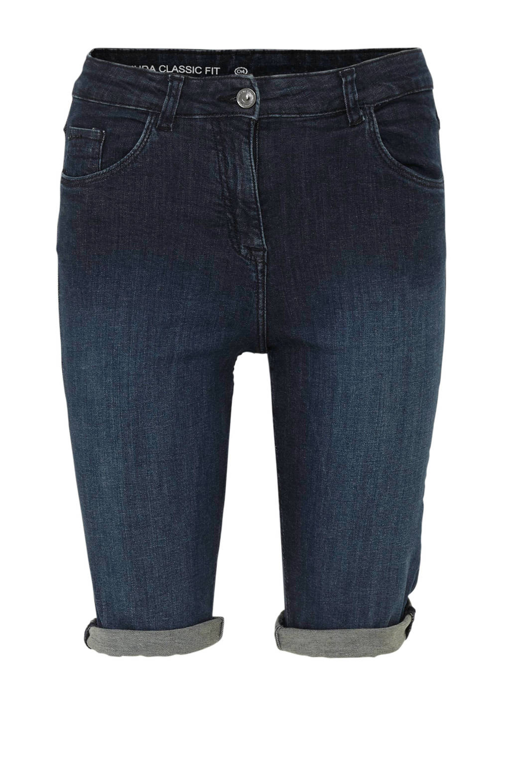C&A The Denim slim fit jeans short, Donkerblauw