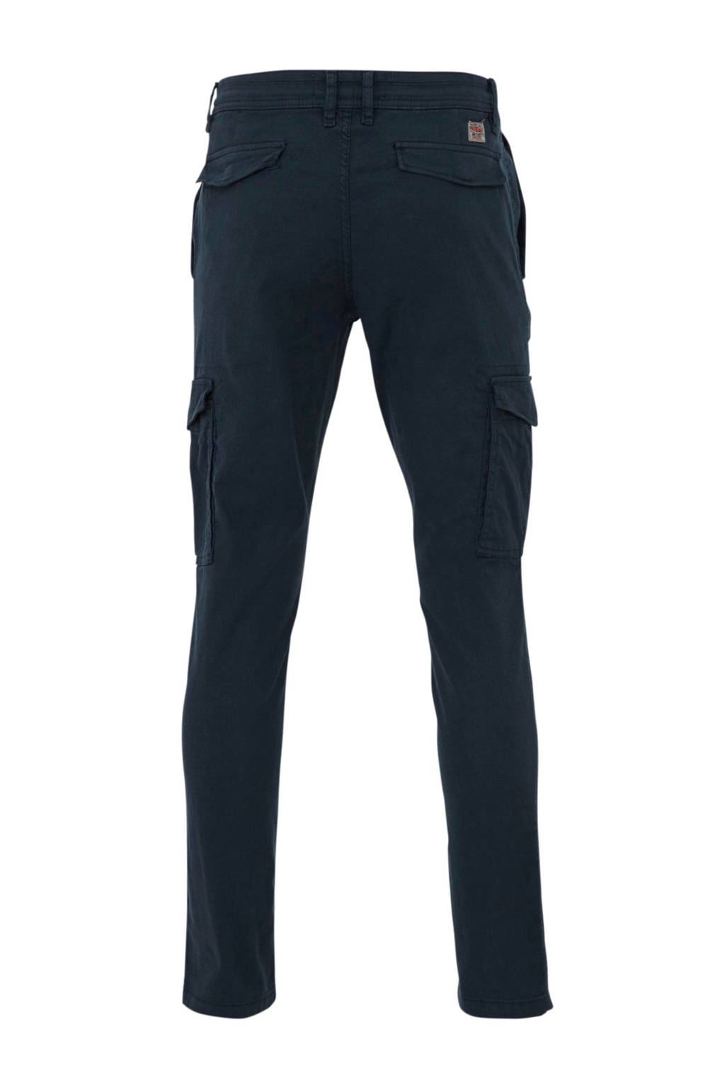 C&A Angelo Litrico tapered fit cargo broek donkerblauw, Donkerblauw