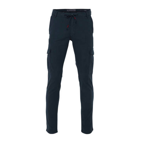C&A Angelo Litrico tapered fit cargo broek donkerblauw