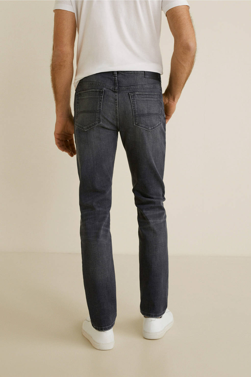Mango Man regular fit jeans, Grijs