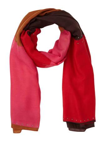sjaal met studs rood