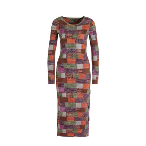 Desigual jurk donkerrood multi