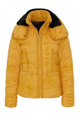 jas met flockprint geel
