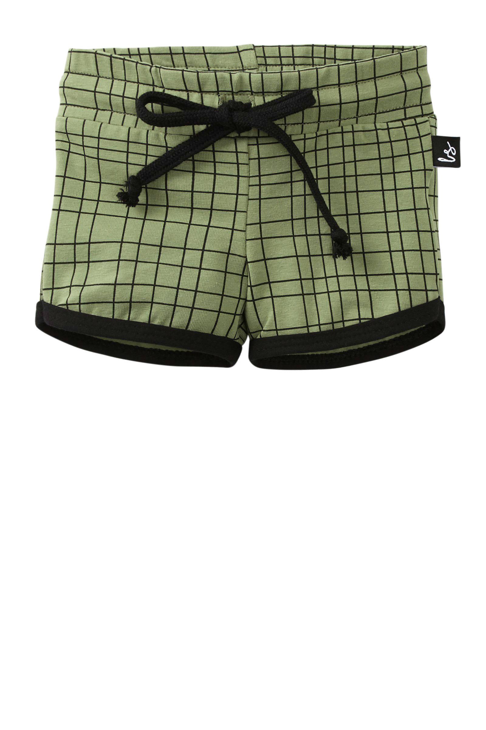 short Criss met zijstreep groen zwart
