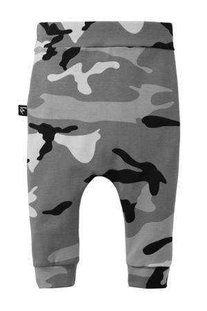 broek met camouflageprint grijs/ lichtgrijs/ don