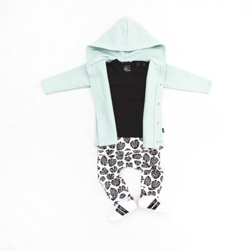 Babystyling baby broek met all over print wit