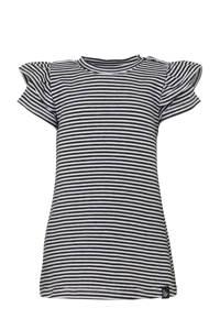 Babystyling gestreepte jersey jurk zwart/wit, Zwart/wit