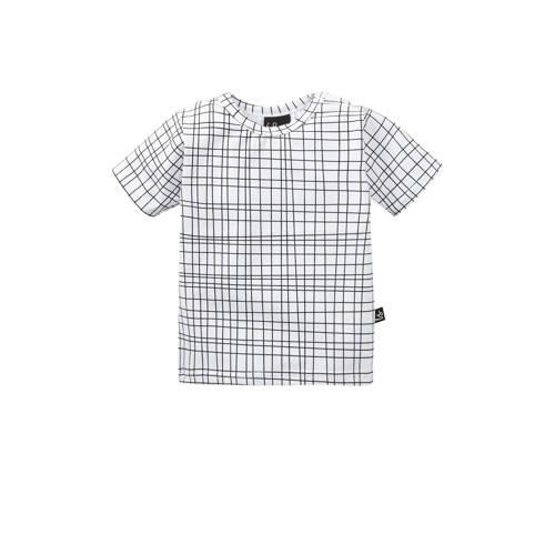 Babystyling T-shirt Criss met grafische print wit/