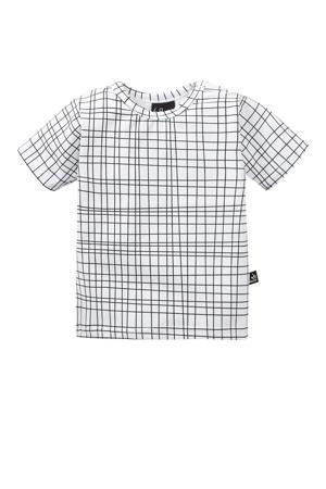 T-shirt Criss met grafische print wit/ zwart