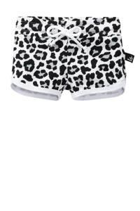 Babystyling broek met panterprint wit/ zwart/ grijs, Wit/ zwart/ grijs