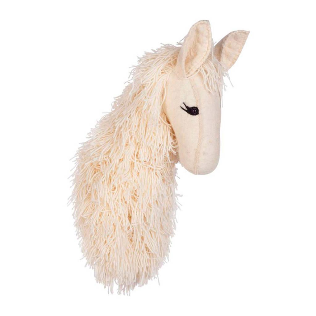 Kidsdepot Zoo Alpaca dierenkop, Wit