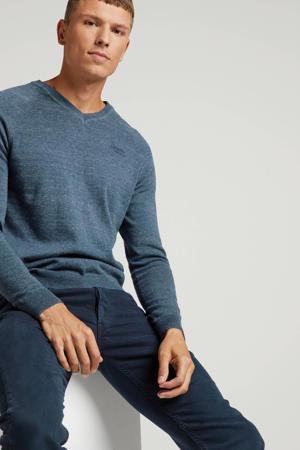 gemêleerde trui donkerblauw