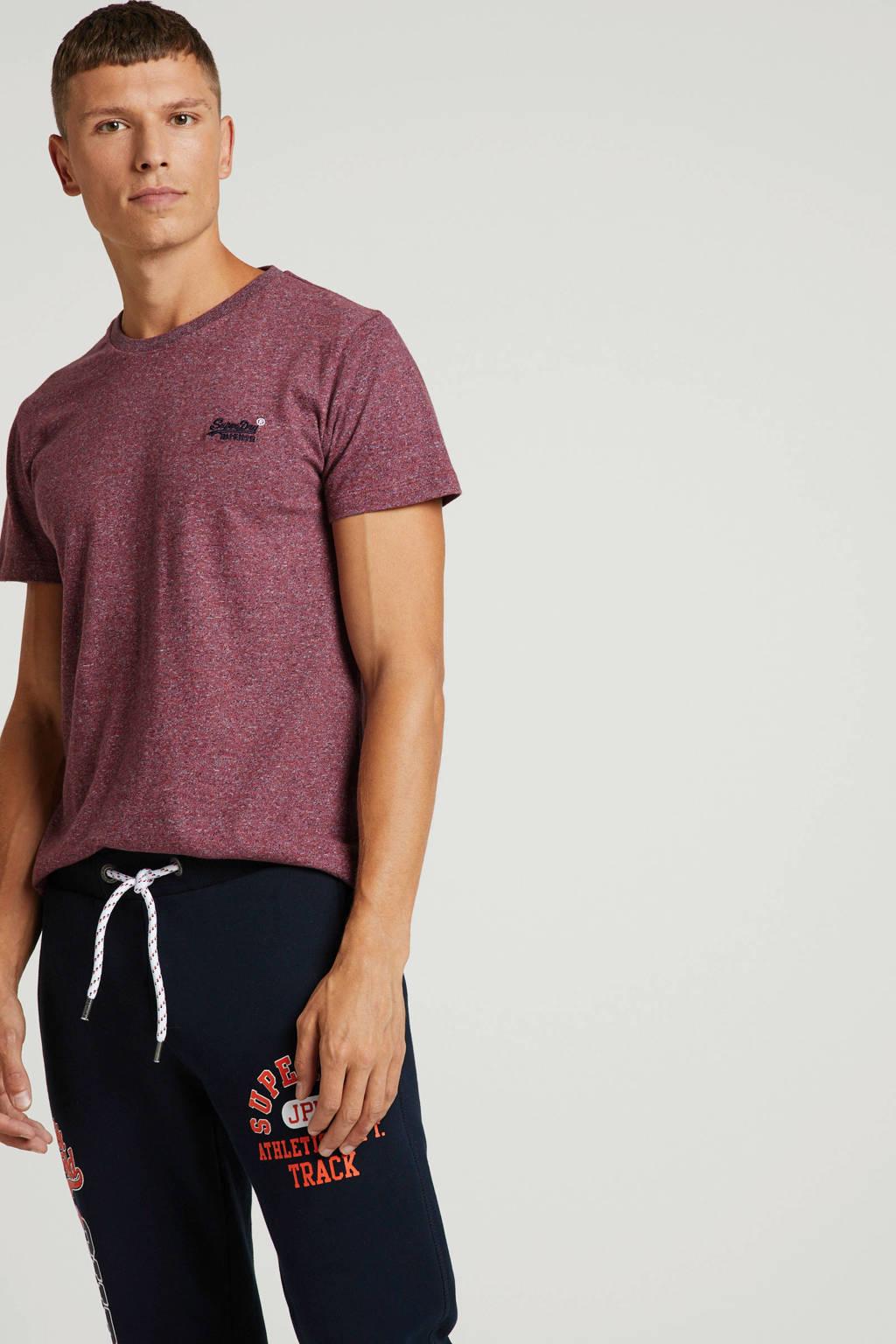 Superdry gemêleerd T-shirt rood, Rood